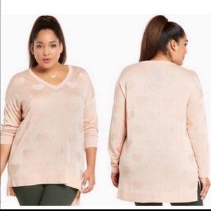 Torrid Heart Reverse Jacquard Sweater
